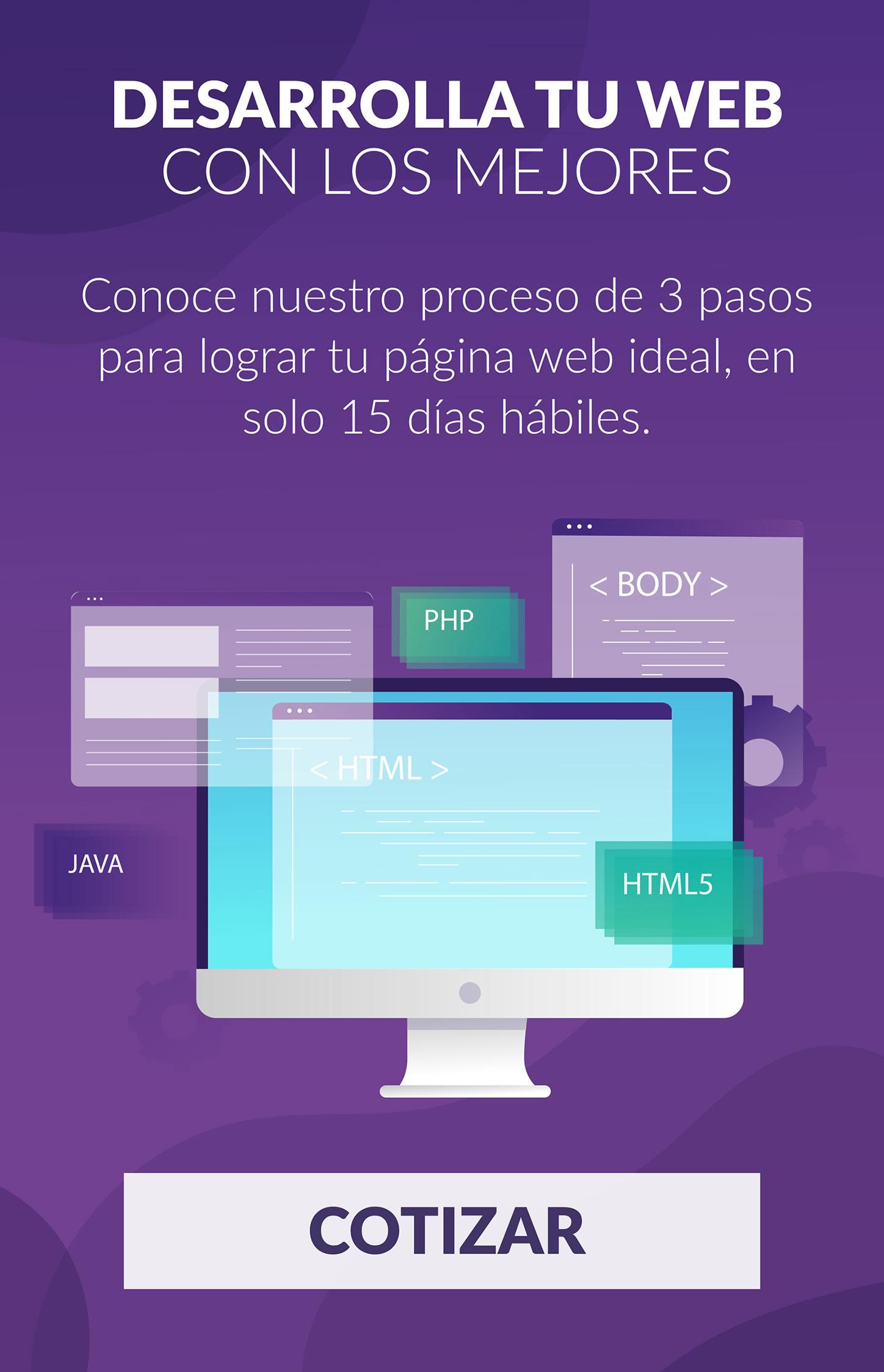 Cotizar una página web responsive.